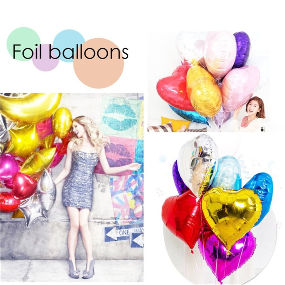 10pcs Heart Foil Balloons Helium Birthday Wedding Valentines Day Globos Party Decoration Air Pearl
