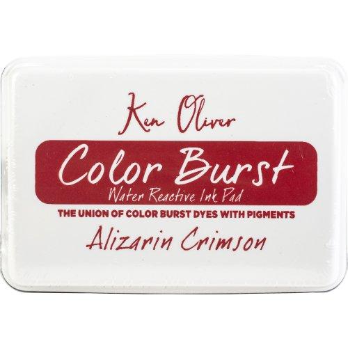 """Ken Oliver Color Burst 3.75""""X2.5"""" Stamp Pad-Alizarin Crimson"""