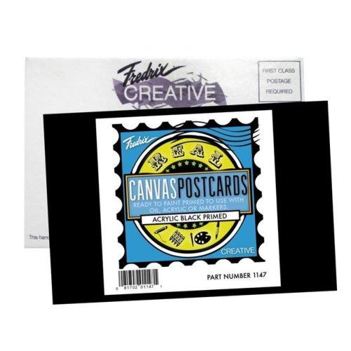 Fredrix 1503099 4 x 6 in. Canvas Postcard, Black - Pack of 25