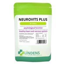 Lindens Neurovits X 90 Tablets - Vitamin B-12 500mcg B-6 & Folic Acid B12 B6 B1