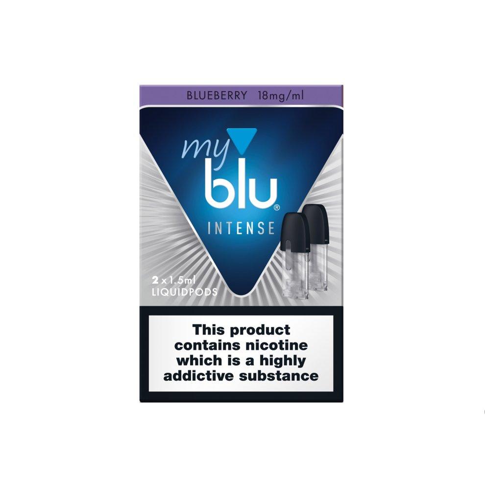 (Blueberry Intense Nic Salt, 18mg) MyBlu Liquidpods (Pack Of 2) , Blu Pods , All Flavors