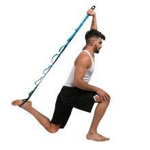 Yoga Stretch Strap Multi Grip Resistance Bands Fitness Training Exercise Belt