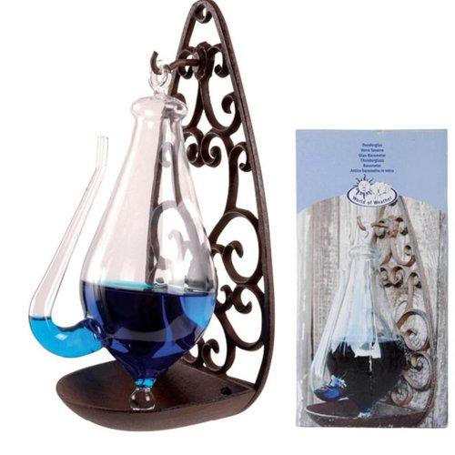 Esschert Design Weather Glass with Cast Iron Holder 0.5 L TH31