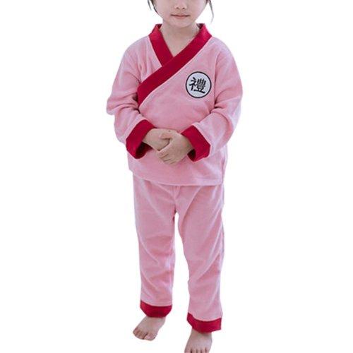 Thickening Bathrobe Girl Pajamas Children Kimono Khan Steamed Clothes Flannel