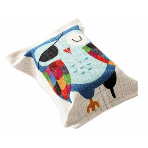 Convenient Cloth Toilet Paper Tissue Holder Storage Box Owl Multicolor
