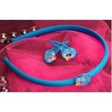 Plastic Dolphin Hairband & Clip - Wild Republic Dolphin Hairband & 2 Dolphin Clips Childrens Animal Hair Accessory