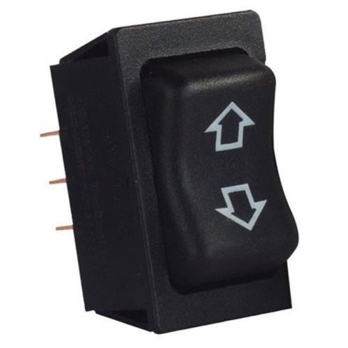 JR Products 0305.1242 1.75 x 1.11 in. Replacement Slide-Out Switch, Black