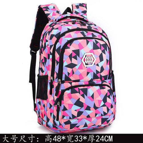 High-capacity waterproof schoolbag for students