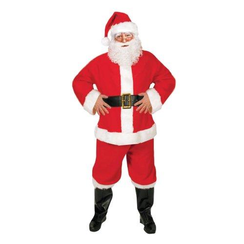 Adults 5 Piece Santa Suit Costume - Adult Santa Father Christmas Suit 5 Piece Christmas Costume Fancy Dress Outfit