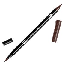 Tombow Dual Brush Marker Open Stock-879 Brown
