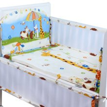 Set of 4 Nursery Baby bassinet/Crib Bedding Bumper Kids Safety Cushion Animals