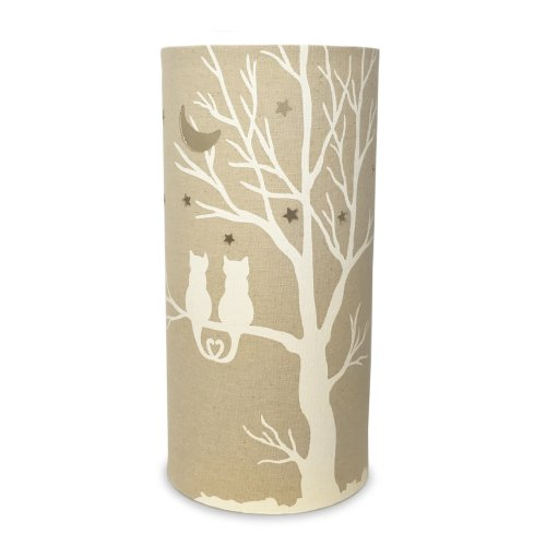 Light-Glow Fabric Table Lamp, Love Cats