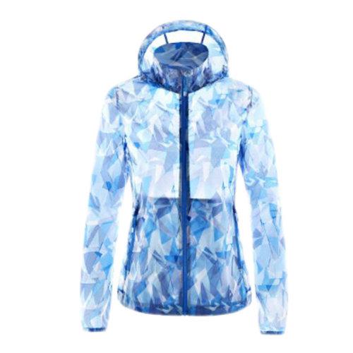 Outdoor Waterproof Sun Protective Clothing Cycling Climbing Long Sleeve Shirts Raincoat-Blue