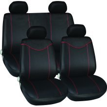 11 Piece Black Red Car Seat Cover Set - New Streetwize Full Skoda Octavia Scout -  red black seat cover set new streetwize full car skoda octavia
