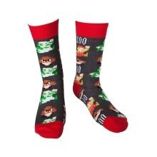 Super Mario Pixel Art Novelty Crew Socks Size 39-42 (CR061063NTN-39/42)