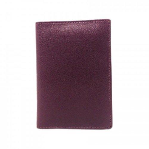 Falcon Leather Passport Wallet - FI4011 Burgundy