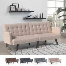 Sofa Bed Convertible 3 Seats in Foam and Fabric ELIODORO