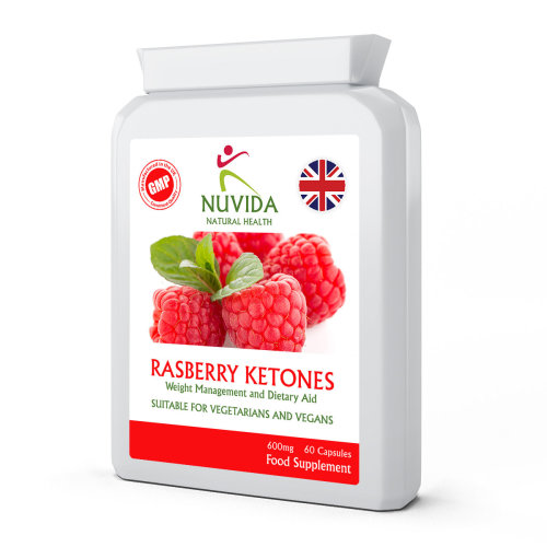 Raspberry Ketones / 60 x 600mg Capsules / Weight Loss & Dietary Aid