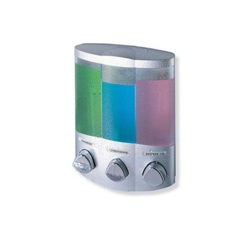 Better Living Products 76334-1 Euro Dispenser TRIO Satin Silver-Chrome Buttons