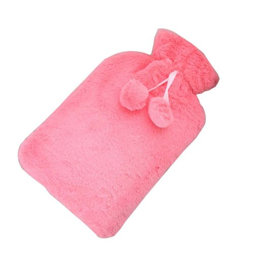 [Pink-1] Big Hot Water Bottle Cute Hot Water Bag Hot Water Bottle With Cover