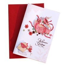 5 Pcs Christmas Card Holiday Greetings Cards Blessing Festival Card, F