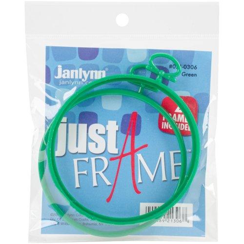 "Janlynn Just A Frame Round 3.75"" 2/Pkg-Green"