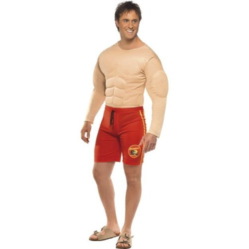 d56cb499bc7 Mitch Baywatch Costume Taille M - baywatch lifeguard costume mens chest  muscle fancy dress smiffys adult attached