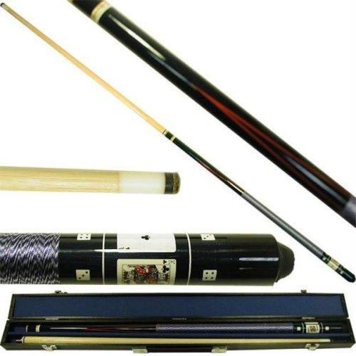 Trademark Commerce 40-549BL Royal Family Poker Billiard Hardwood Pool Cue Stick - Black
