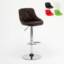 Swivel Bar Stool for Pubs and Kitchens with Padded Backrest PHILADELPHIA