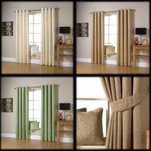 Ravalli jacquard bright twigs lined eyelet curtains