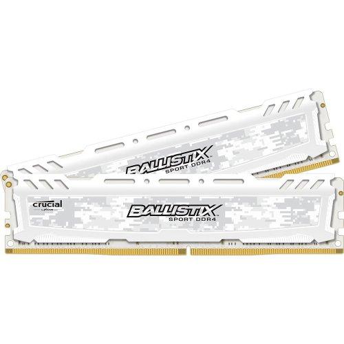 Crucial Ballistix Sport LT 16Gb 2x8Gb DDR4 2666MHz Kit-White