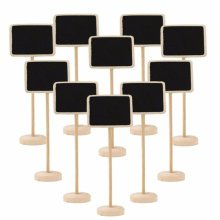 TRIXES 10pcs Rectangle Table Chalkboards on Stand