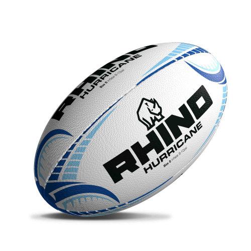 Rhino Hurricane Rugby Union Training Ball White/Blue