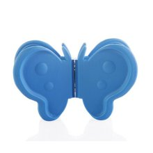 Cute Durable Silicone Plate Clamp Pot Holder Heat-proof  Plate Tray Clips,BLUE