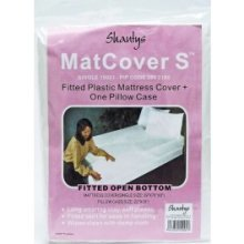 Shantys Single Mattress Cover - Fitted Plastic Pillow Casechoose Bed Size Wipes -  fitted plastic mattress cover pillow casechoose bed size wipes