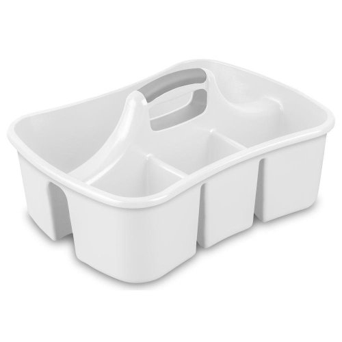 Sterilite Divided Ultra Caddy - White | Plastic Cleaning Caddy