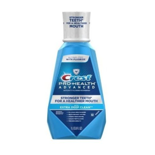 Crest Pro-Health Advanced Anticavity Fluoride Mouthwash with Extra Deep Clean, 33.8 Ounce
