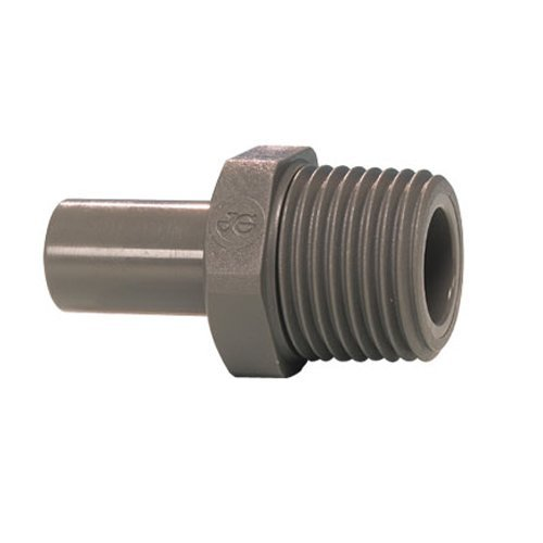 John Guest Stem Adaptor 1/4 inch Stem x 1/8 NPTF Thread (one supplied)