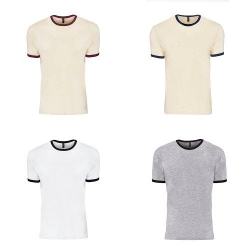 Next Level Adults Unisex Cotton Ringer T-Shirt