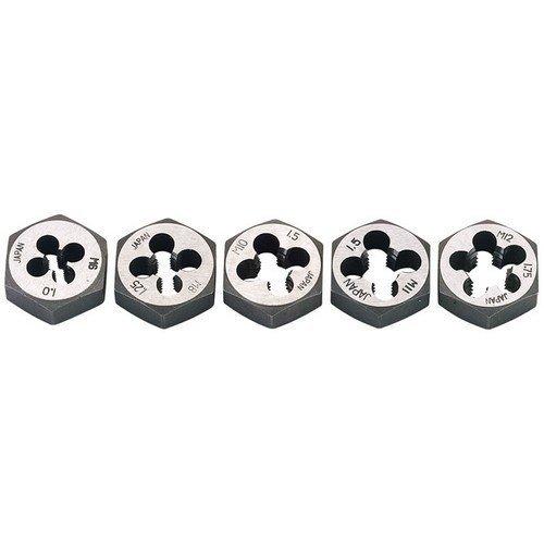Draper 79198 5 Piece Metric Hexagon Die Nut Set