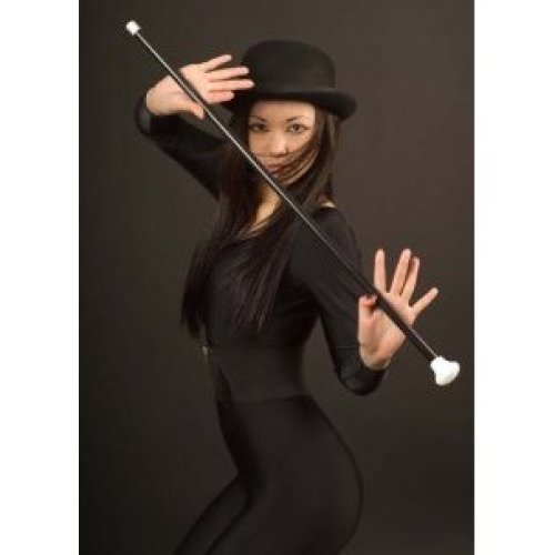 Black And White Dancing Cane - 20s Stick Fancy Dress Accessory - Black White 20s Dancing Stick Cane Fancy Dress Accessory