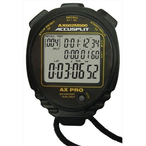 Accusplit AX602M500 Multi Mode 500 Memory Advanced Timing Stopwatch