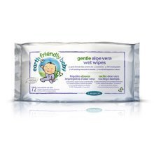 Earth Friendly Baby 15% off Gentle Aloe Vera Wet Wipes - 72 Pack