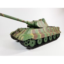 Heng Long Porsche Turret 2.4ghz King Tiger German Panzer Tank BB Smoke