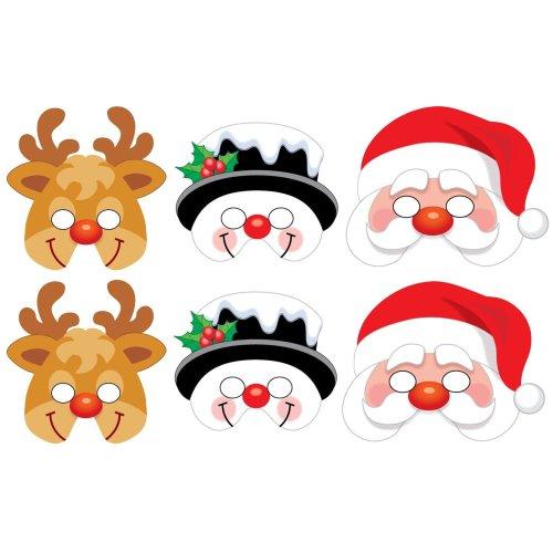 6 Foam Christmas Masks