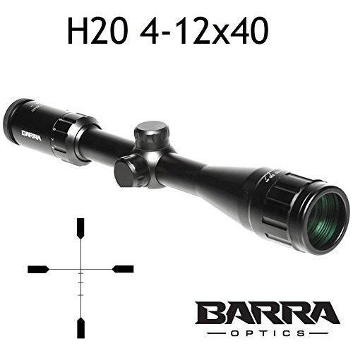 Rifle Scope Barra H20 4 12x40 BDC Reticle Capped Turrets for Hunting Shooting Precision Deer Hog Venison Varmint