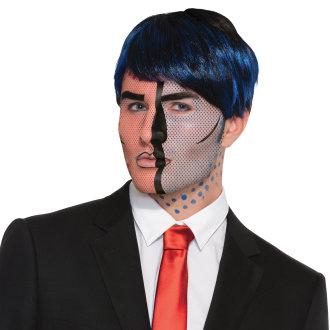 Bristol Novelty Unisex Adults Pop Art Face Tattoo