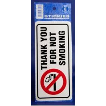 Thank You For Not Smoking Sticker - Vinyl Castle White Promotions Outdoor V452 -  sticker thank you vinyl smoking castle white promotions outdoor