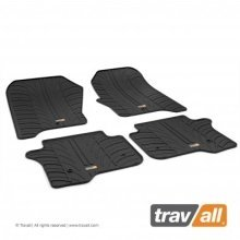 Travall Rubber Car Floor Mats [rhd] - Fiat Doblo Van (2010-) (2pcs+fix)