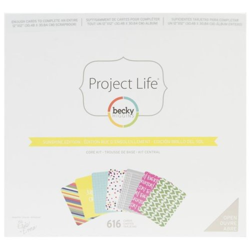 American Crafts 380170 Sunshine Edition Project Life Core Kit